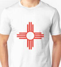 Zia..The New Mexico (USA) Flag T-Shirt
