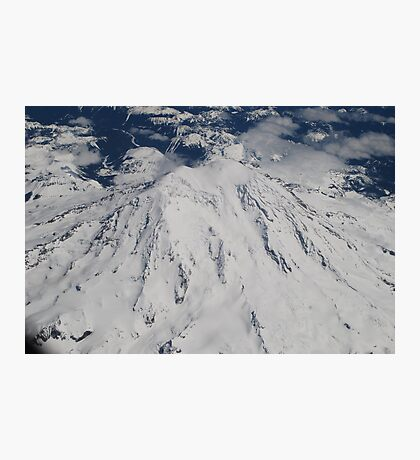 Mt. Rainier Fly Over Photographic Print