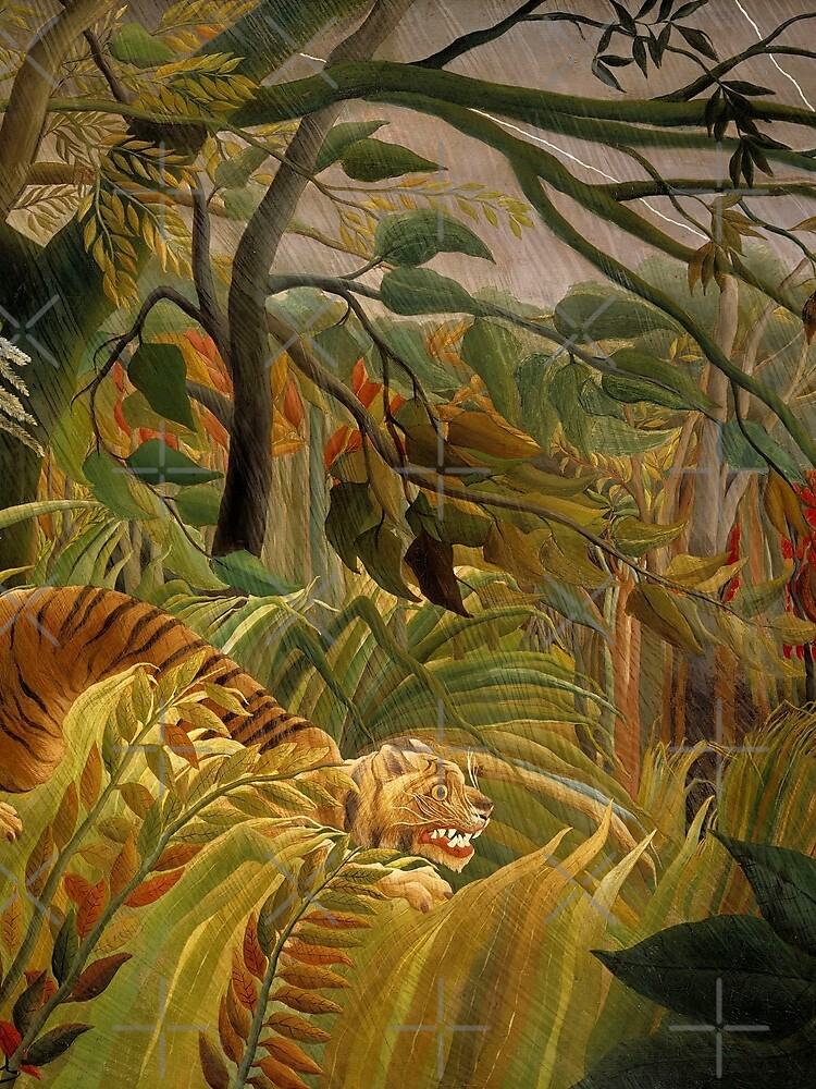 """Henri Rousseau ""Tiger in a Tropical Storm (Surprised ..."