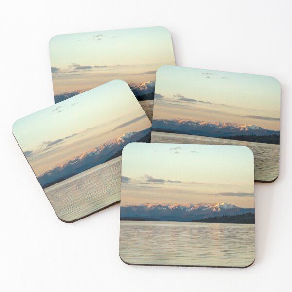 Evening on Big Arm Bay, Flathead Lake, Montana Coasters (Set of 4)