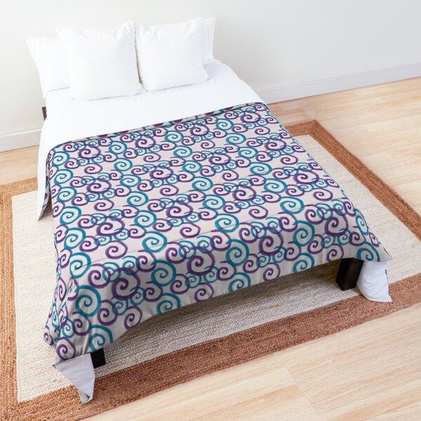Blue and Purple Swirls Comforter