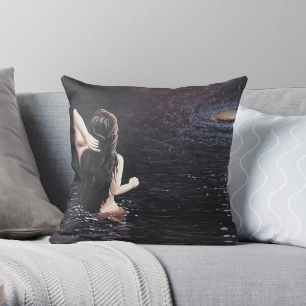 Crossing the void Throw Pillow