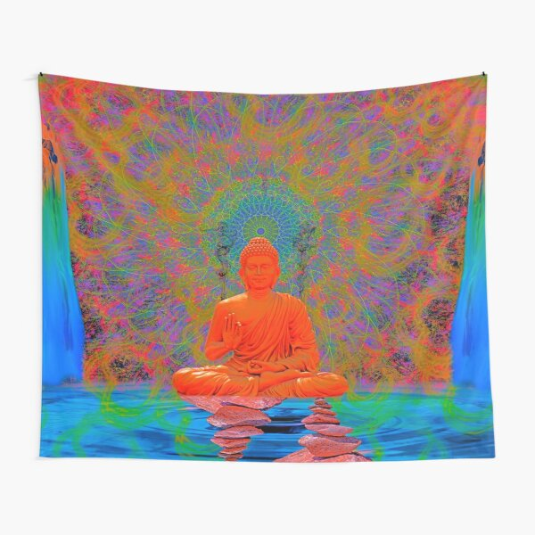 Cool Water Zen (Ultraviolet) Tapestry