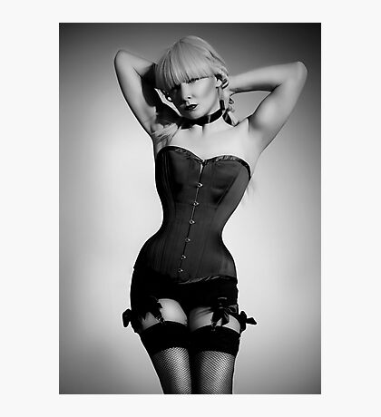 Long line corset Photographic Print
