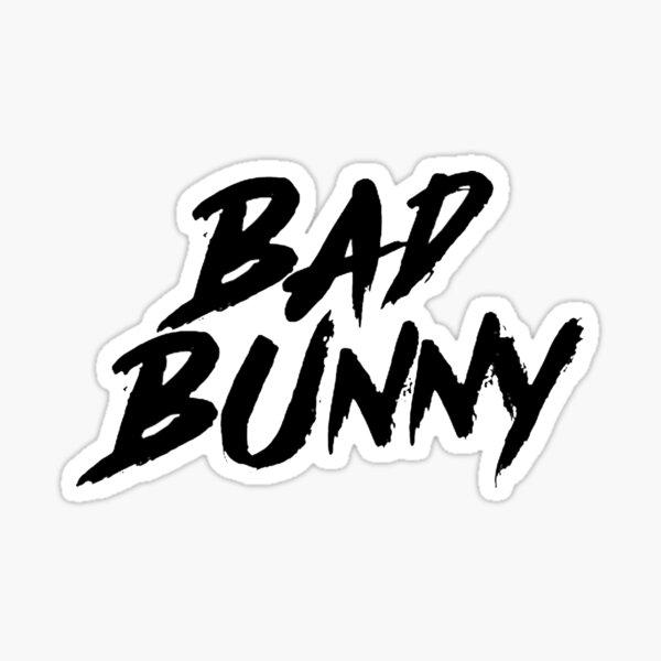 Bad Bunny Logo Sticker By Uppsidde Redbubble