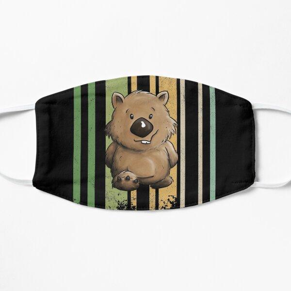 Funky Retro Style Cute Cartoon Marsupial Wombat Flat Mask
