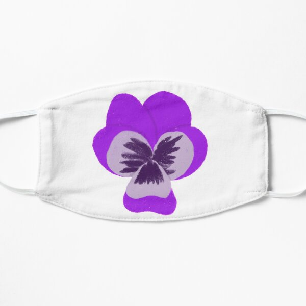 Single Purple Pansy Mask