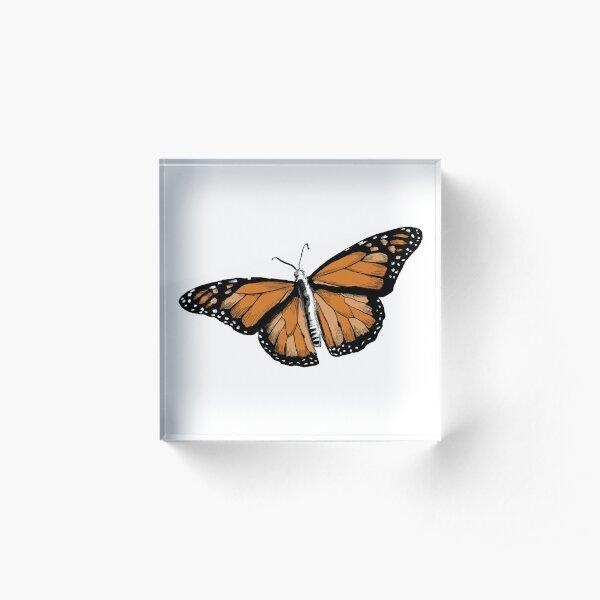 Monarch Butterfly Acrylic Block