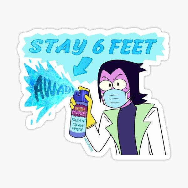 Stay 6 Feet Away! - OK KO Professor Venomous Sticker