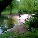 Fly fishing Prospect Park Brooklyn by andytechie