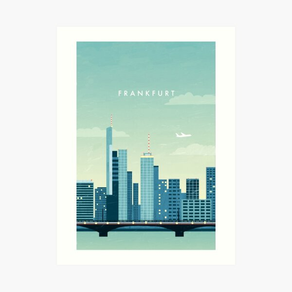Frankfurt Travel Poster Kunstdruck