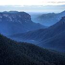 Blue Mountains Blue - Grose Valley NSW Australia by Bev Woodman
