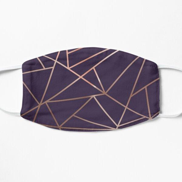 Deep Purple and Metallic Rose Gold Geometric Design Mask