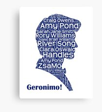 Geronimo, 11th Doctor, Doctor Who Canvas Print