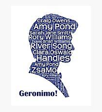 Geronimo, 11th Doctor, Doctor Who Photographic Print