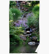 Waterfall At Honor Heights Park Poster