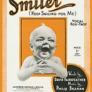 SMILER (vintage illustration) by ART INSPIRED BY MUSIC