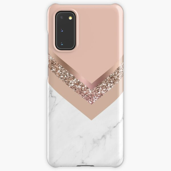 Rose Gold and Marble Triangle Samsung Galaxy Snap Case
