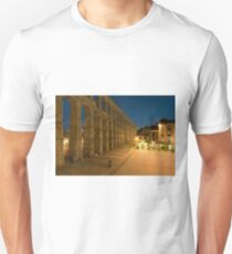 Segovia acueduct, Castilla y Leon, Spain  T-Shirt