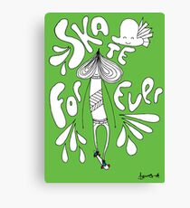 SKATE FOREVER! (Go Green, Ride Red version) Canvas Print