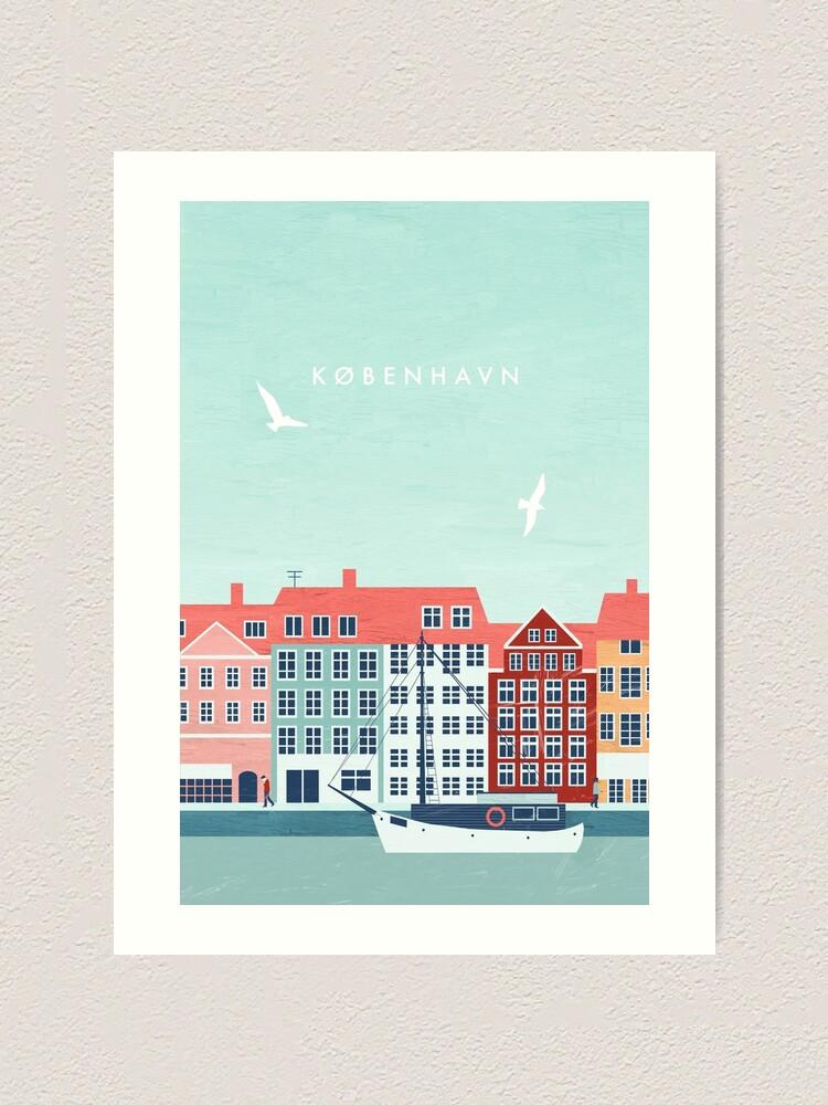 Alternate view of Copenhagen travel poster Art Print