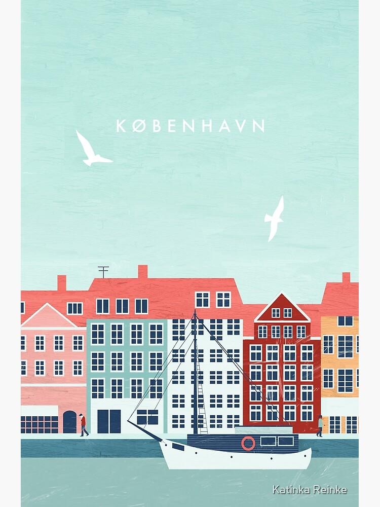 Copenhagen travel poster by katinkareinke