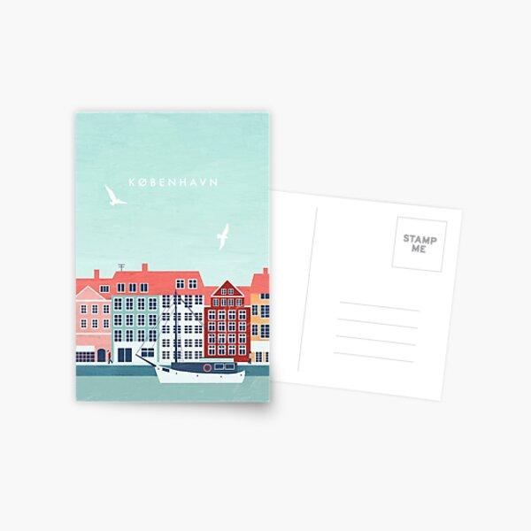 Copenhagen travel poster Postcard