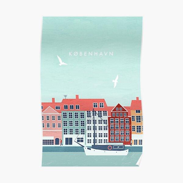 Copenhagen travel poster Poster