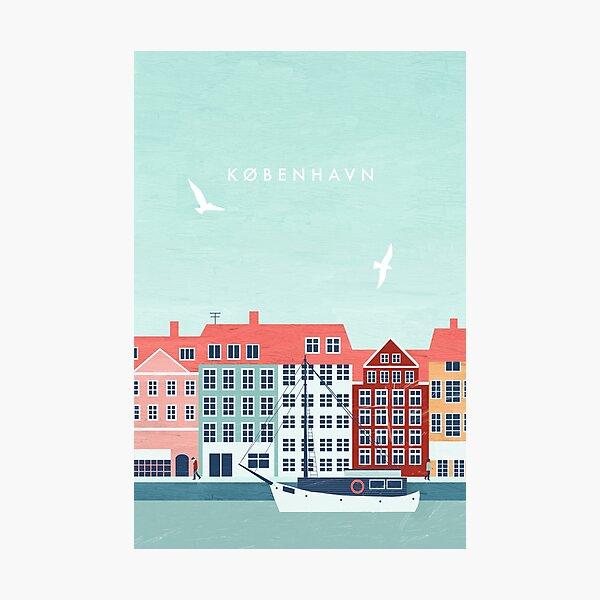 Copenhagen travel poster Photographic Print