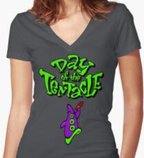 Maniac Mansion - Day of the Tentacle Women's Fitted V-Neck T-Shirt