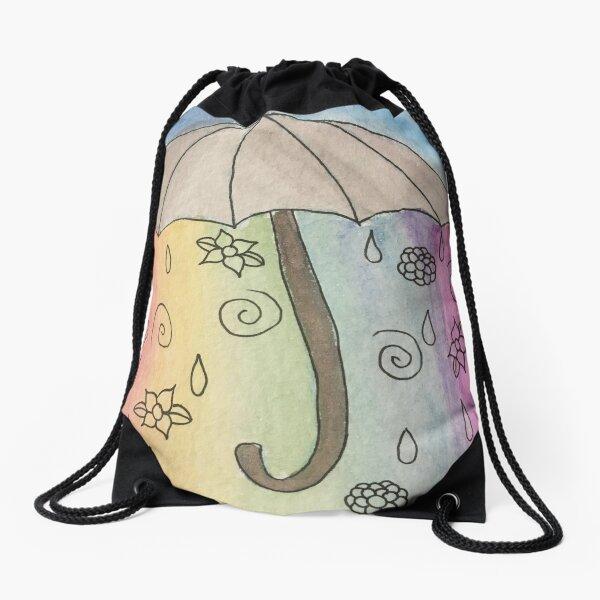 Watercolor Sweet Rain Drawstring Bag