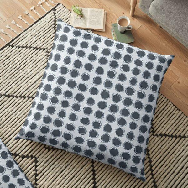 Big scribble dots gray Floor Pillow