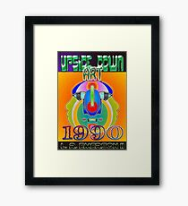 Upside-Down Drawing and Masg Art by influential American Artist L. R. Emerson II. Framed Print