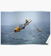 Spitfire - Bf109 - 'Some you win....' Poster