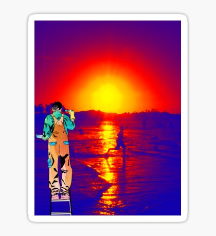 Paint me the sunset Sticker