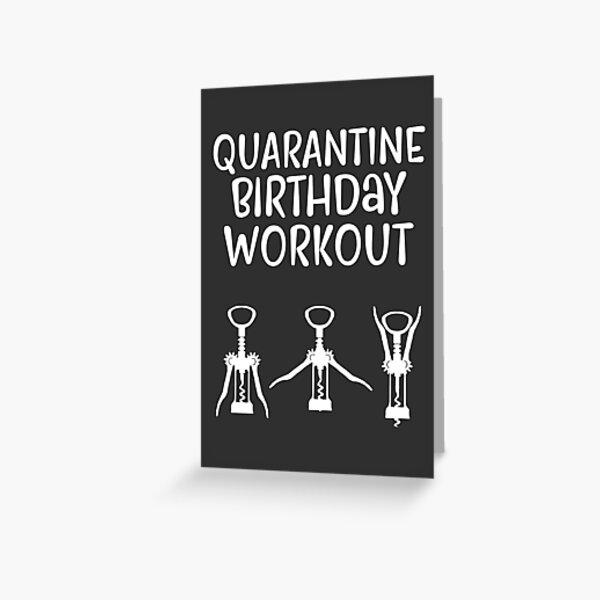 Quarantine Birthday Workout | Birthday Card Greeting Card