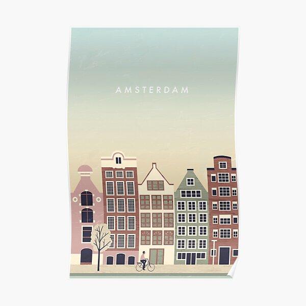 Amsterdam travel poster Poster