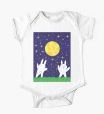 Moon Bunnies Baby Body Kurzarm