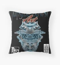 Upside-Down Artwork, Drawing and Masg Art by internationally acclaimed artist L. R. Emerson II.  Throw Pillow