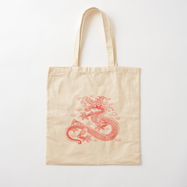 Red Dragon Cotton Tote Bag
