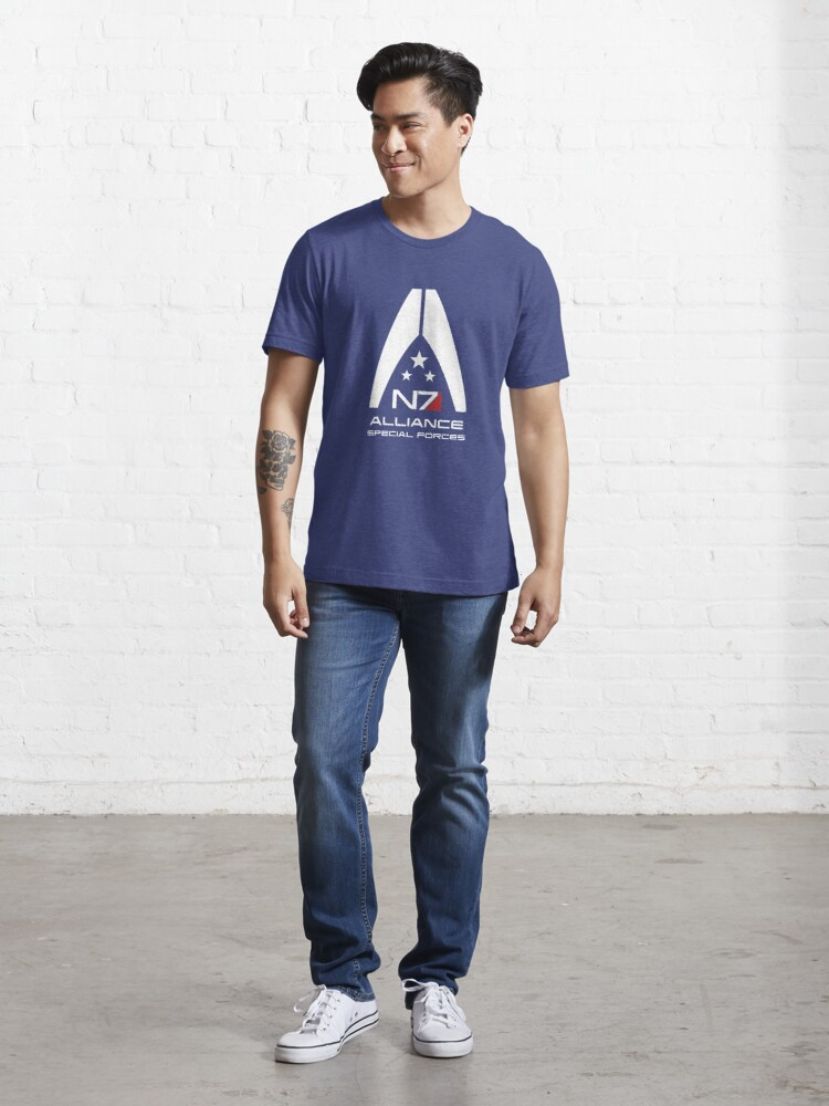 Alternate view of Mass Effect - Alliance Special Forces N7 Essential T-Shirt