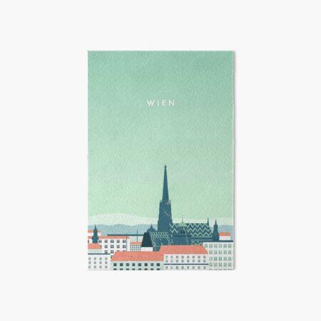 Vienna travel poster Art Board Print