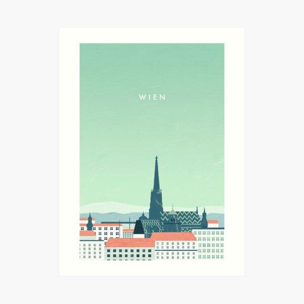 Wien Travel Poster Kunstdruck