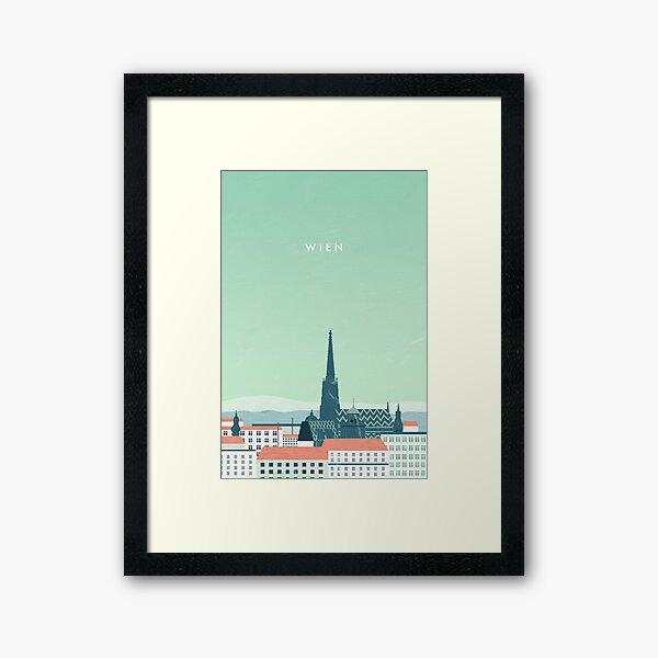Vienna travel poster Framed Art Print
