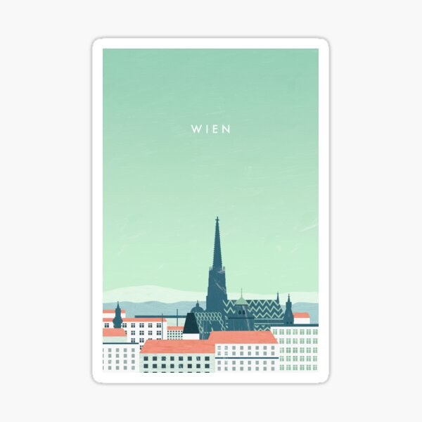 Vienna travel poster Sticker