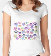 owls & blossoms Women's Fitted Scoop T-Shirt