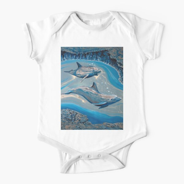 Dolphin Cave Short Sleeve Baby One-Piece