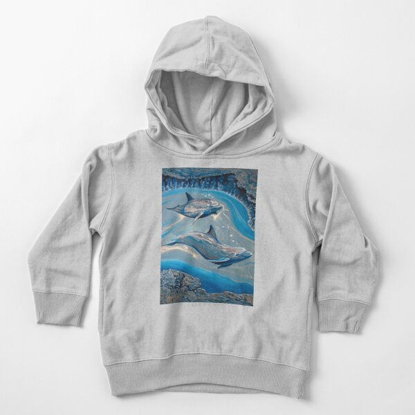 Dolphin Cave Toddler Pullover Hoodie