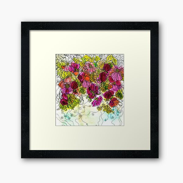 Dog-Rose. Autumn. Framed Art Print