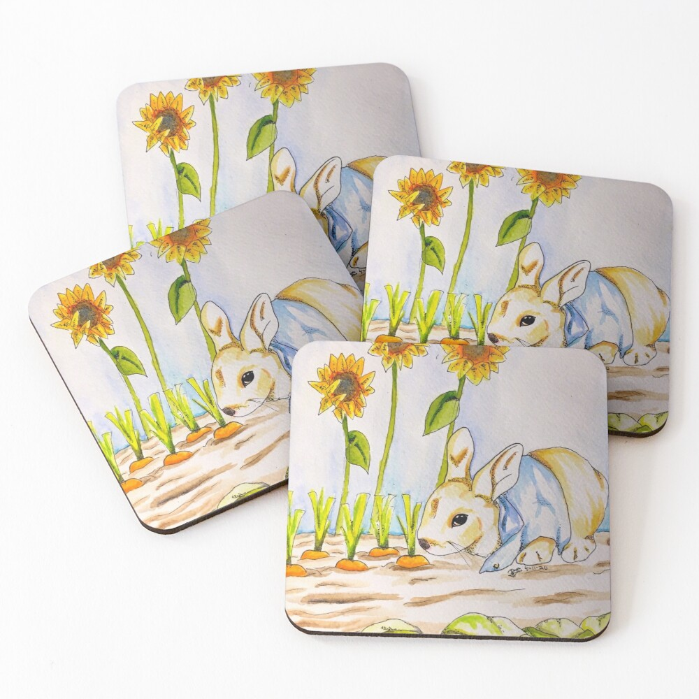 Peter Rabbit (In My Style) Coasters (Set of 4)